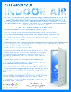 Care About Your Indoor Air Fact Sheet