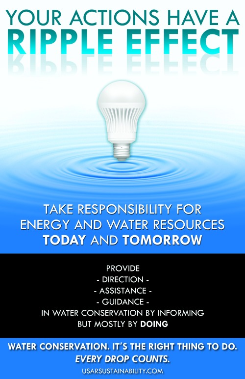 Ripple Effect Water Poster