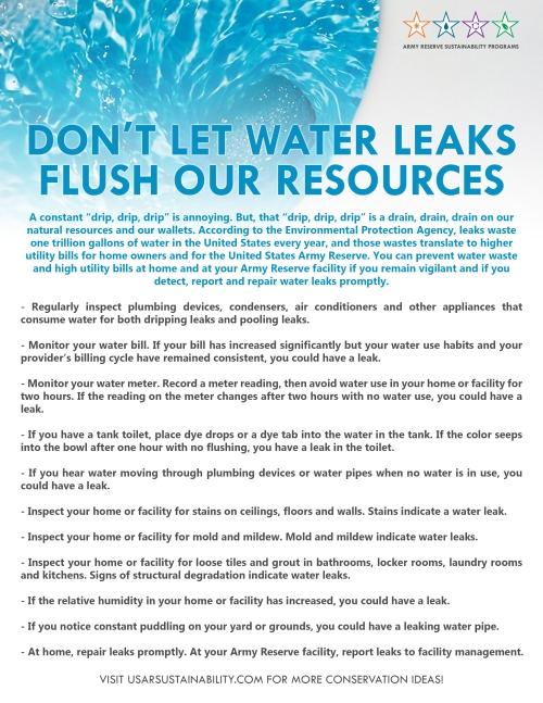 Water Leak Fact Sheet